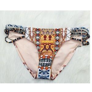 Rachel Roy Strappy Hipster Tribal Bikini Bottom S